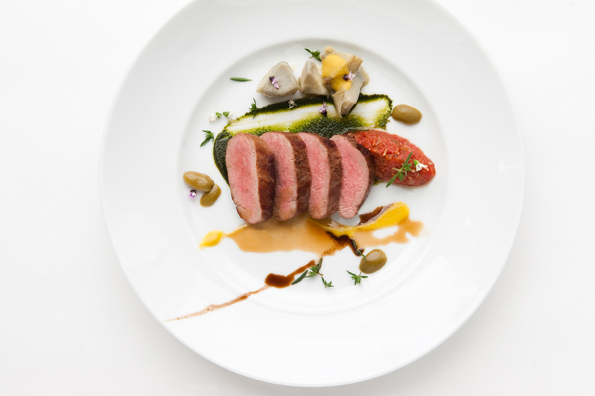 Veal-with-Artichoke-and-Tomato-Relish